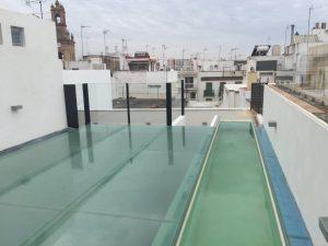 techo cristal azotea piscina
