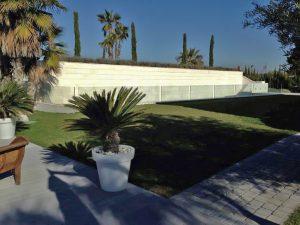 construcción diseño jardín exterior