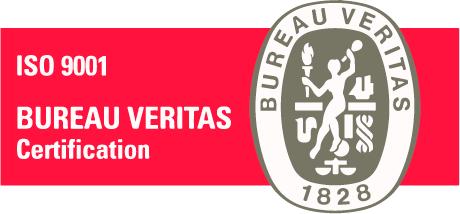 Sello certificación calidad ISO 9001 Bureau Veritas