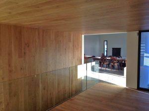 obra diseño interior decoración madera salón