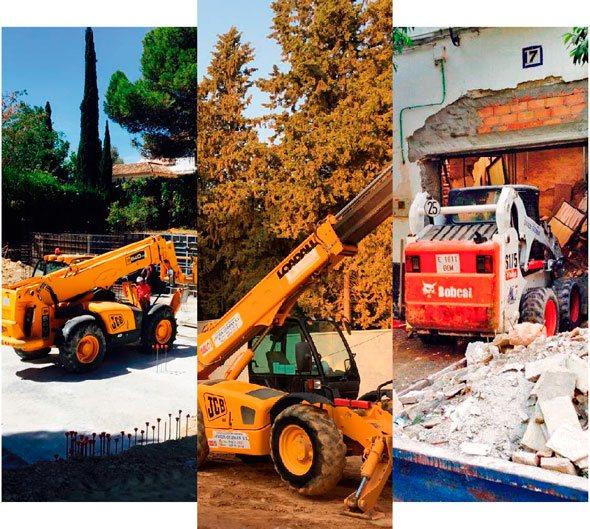 vehiculos obra construcción